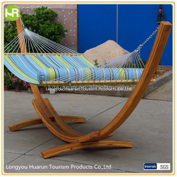 Wood Stand Comfortable Hammock With Pillow