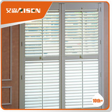 White bass wood shutters pvc louvered doors timber shutters plantation home clean