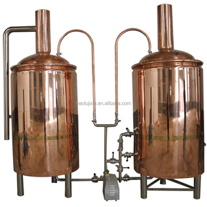 80 US gallon Brew kettle and brewing line, Puree beer brewing equipment, conical fermenter and brewery.