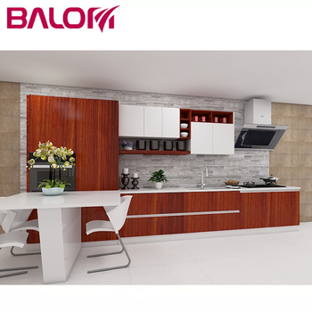 Balom L Shaped Linear Modular Red Kitchen Cabinets Designs Factory Buy L Shape Kitchen Cabinet Linear Kitchen Cabinets L Shaped Modular Kitchen
