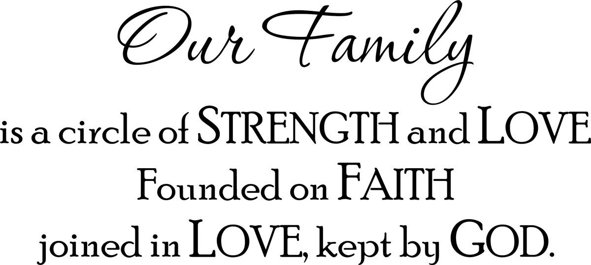 Buy Wall Decal Quote Our Family Is A Circle Of Strength And Love