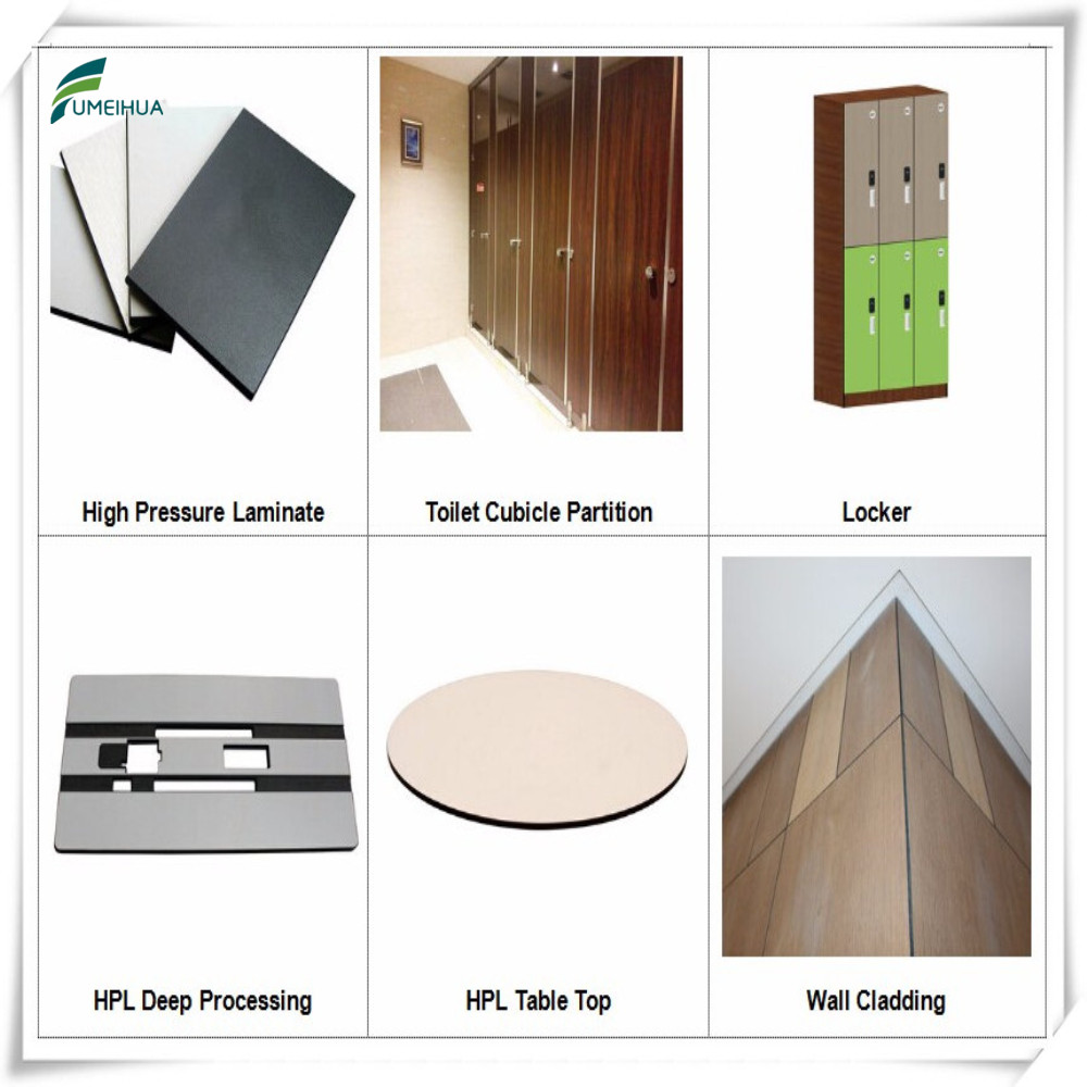 decorative high-pressure compact laminate HPL toilet partition for restroom washroom bathroom WC latrine cubicle divider