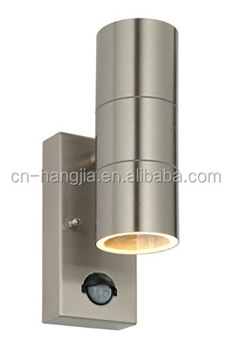 Ningbo Yuyao 2 X PIR Stainless Steel Double Outdoor Wall Light With Movement Sensor IP44 Up/Down Outdoor Wall Light
