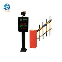 Global entrance exit software management license plate recognition parking system automatic gate system for cars camera reader