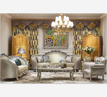 Magnificent Engraved Castle Sofa Set Queen Anne Style Wooden Living Room Furniture Unique Floral Design Solid Wood Carved 3 Seater Sofa Buy Wood Carved Living Pabps2019 Chair Design Images Pabps2019Com