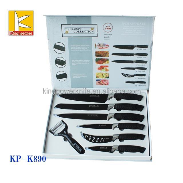 7 Pcs Swiss Line Non Stick Kitchen Knife Set Buy Non