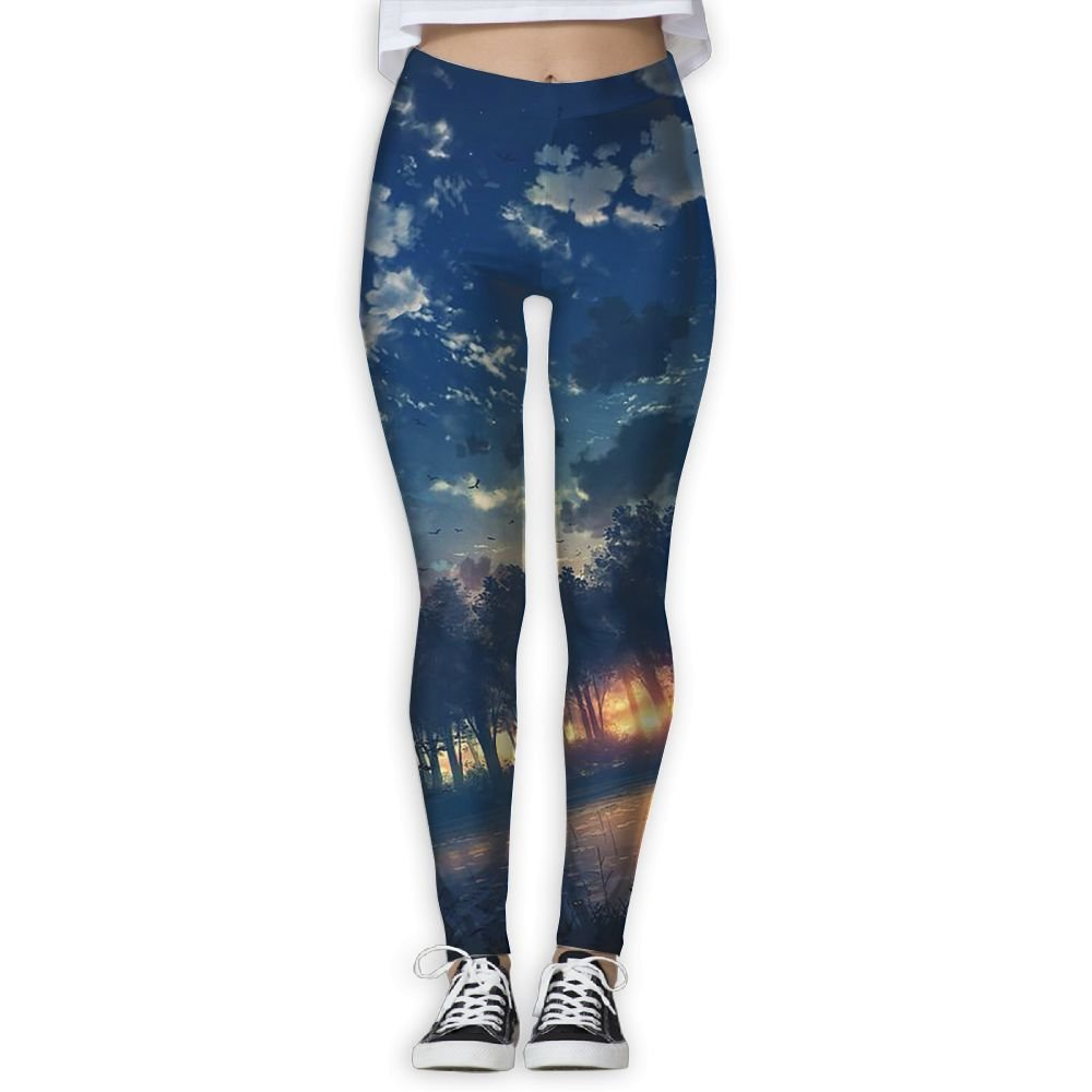 2cdfa46827171 Get Quotations · Sunset Sunset Yoga Pants For Women Petite Length Fitness  Power Flex Yoga Pants Leggings Tight Yoga