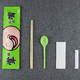 Custom disposable chopstick sleeves with spoon napkin toothpick dining flatware kit disposable cutlery kit bag