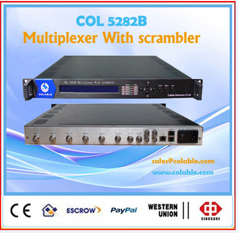 COL5282B digital catv tv multiplexer with Scrambler