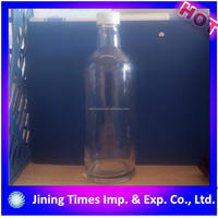 china supplier high quality logo printing 500ml vodka glass bottle
