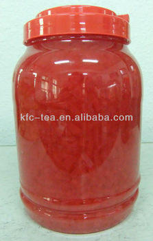 Strawberry coconut jelly for bubble tea in taiwan
