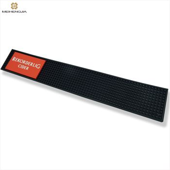 Barmat Beer Spill Silicone Branded Pvc Custom Rubber Bar