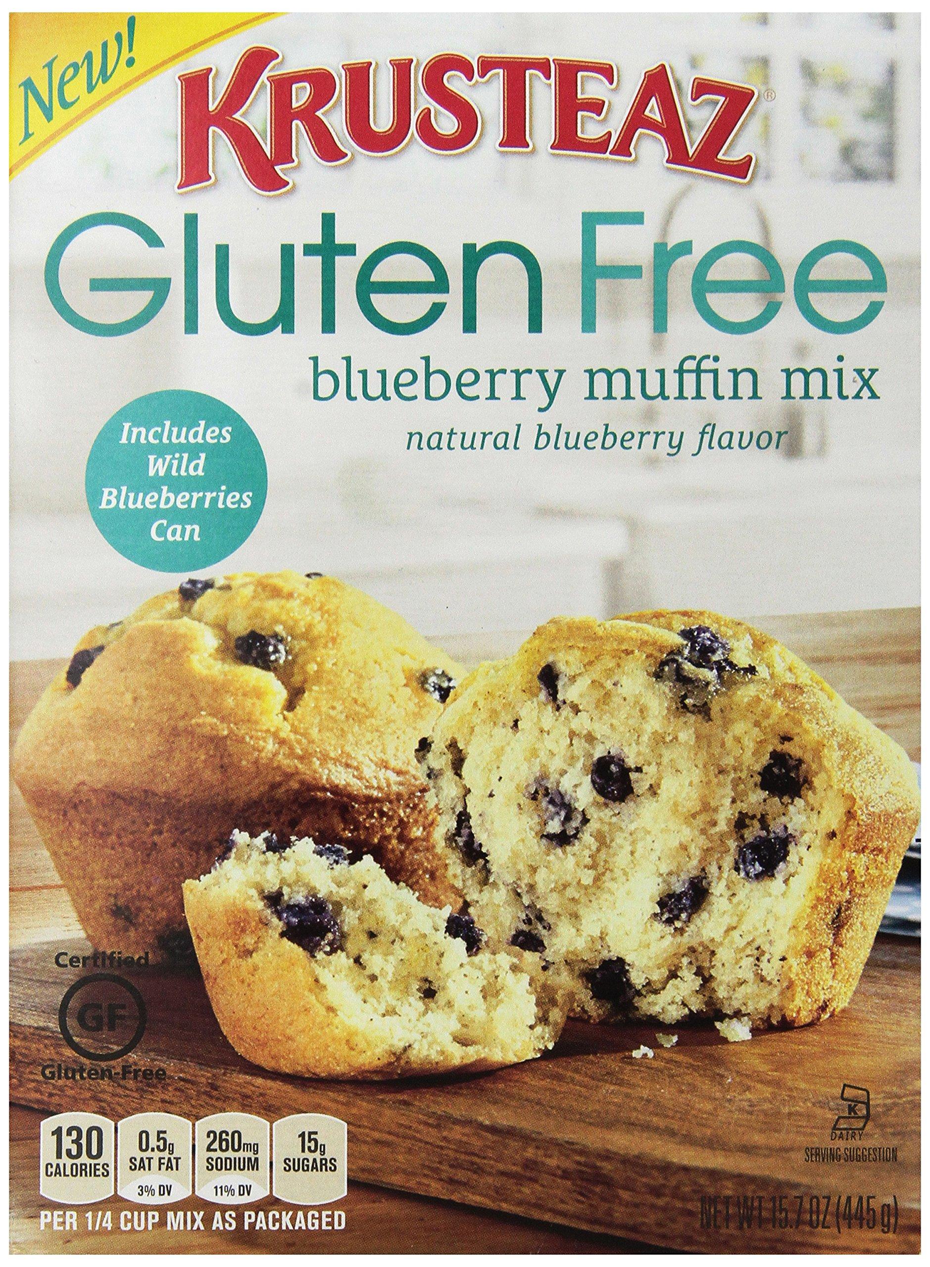 Krusteaz Gluten Free Blueberry Muffin Mix, 15.7-Ounce Box