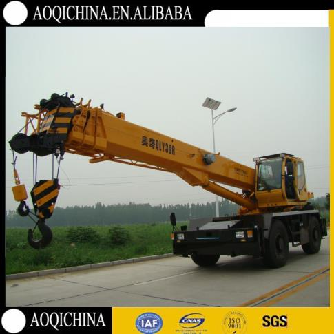low price 30t rough terrain crane, china factory directly supply rt-crane qry30 for sale