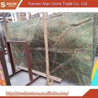 Gold Supplier China Rainforest Green Marble Tile