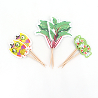 Cute Design Bamboo Skewer Cocktail Sticks Stirrer