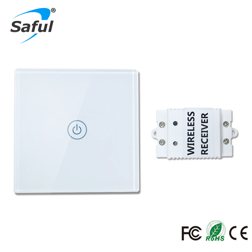 Smart Home Touch Switch 1 gang 1 way Wireless 12V Touch Switch stable and wall switch for Lights and Power Strip