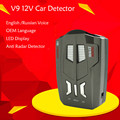 V9 Car Radar Detector Laser 360 Degrees 16 band led Russia Speed display English Voice Anti
