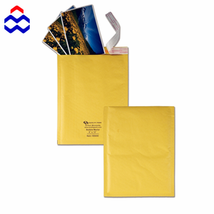 China manufacturer waterproof lightweight Kraft paper bubble envelope mailer bag with A4 paper size