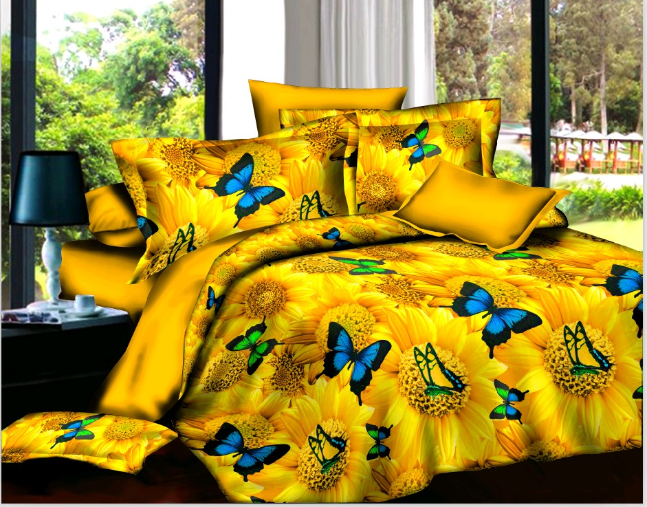 buy housse de couette marque flower oil painting designer bedding sets queen size duvet cover. Black Bedroom Furniture Sets. Home Design Ideas