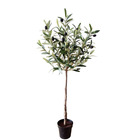 Factory Direct Wholesale Mini Artificial Olive in Pot Home Garden Decoration Fake Olive Tree Bonsai