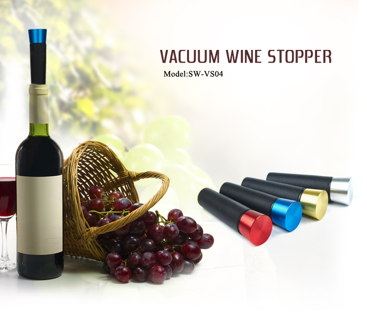 Popular products 2018 wine stopper with price silicone vacuum sealer bar accessories