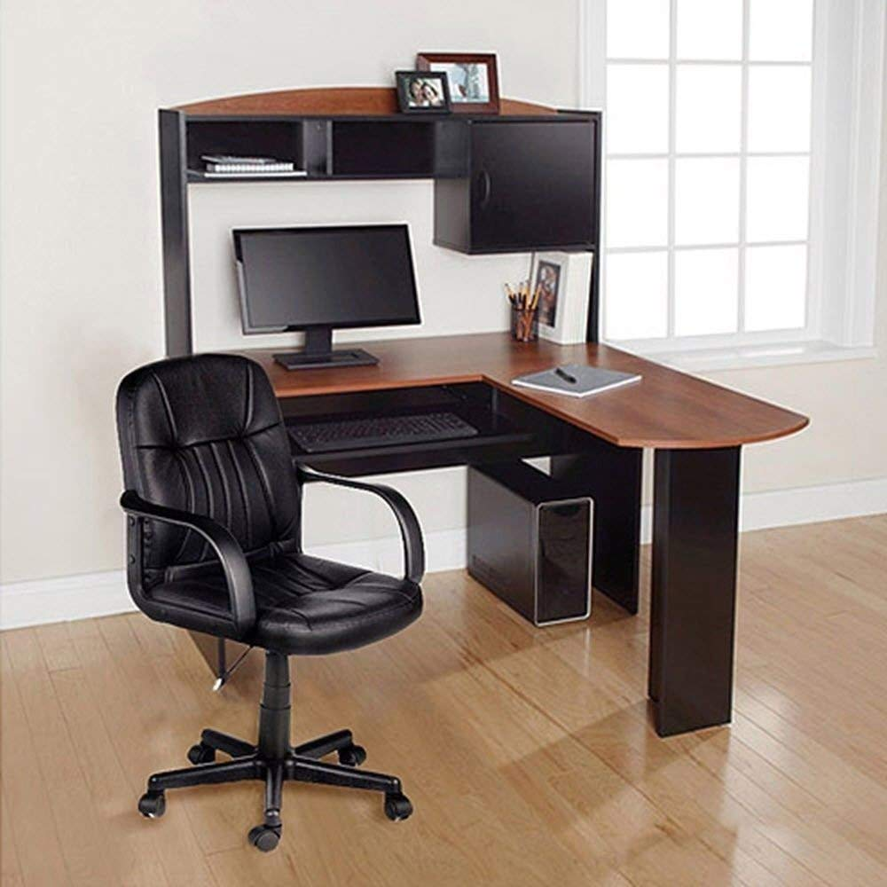 Generic Office L-Shape Hutch Ergonomic Study T New Computer Desk New C Ergonomic Study Chair Co Chair Corner puter De Table Home Office