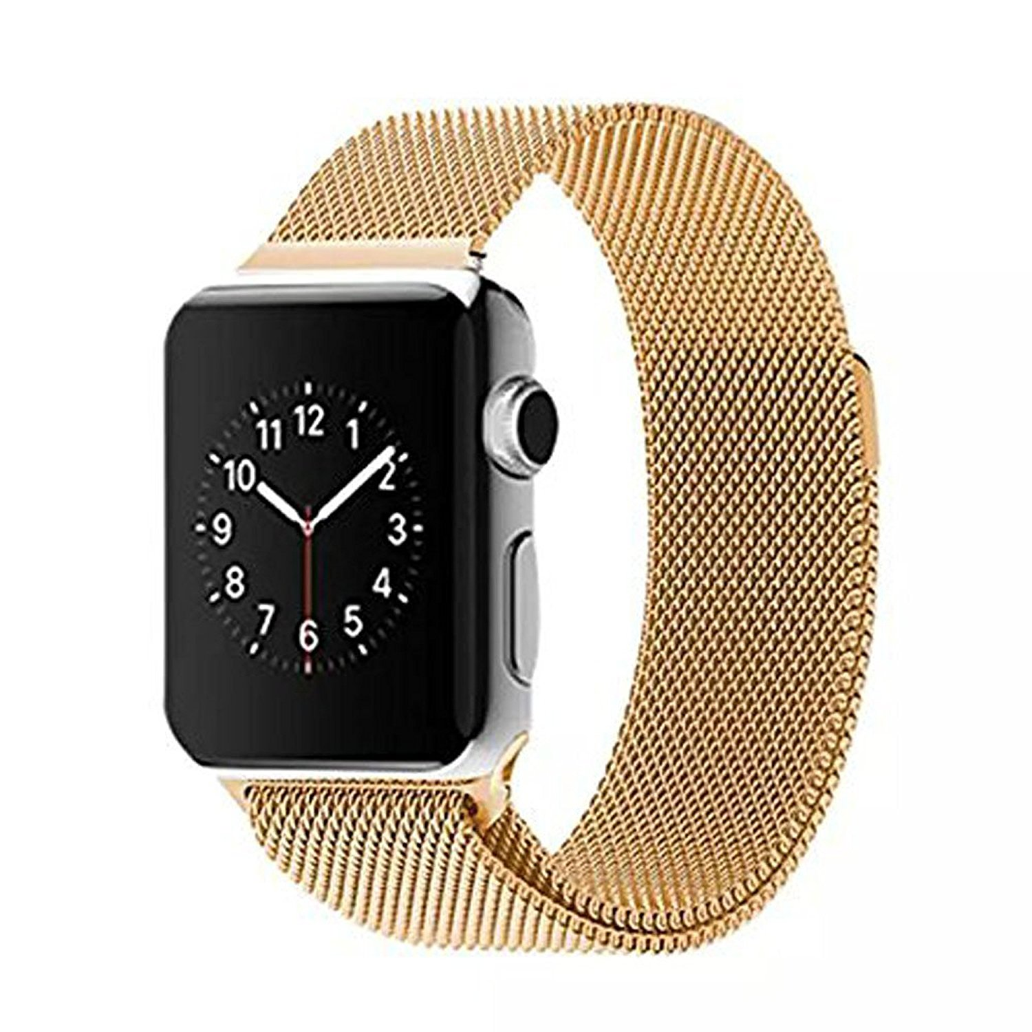 38mm Apple Watch Band Rose Gold, Imikoko™ 38mm Magnetic Apple Watch Milanese Loop Band, Stainless Steel Bracelet Strap Replacement with Strong Magnet Buckle for Apple Watch (Gold)