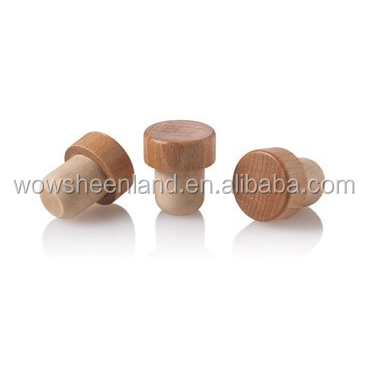 19.5mm Synthetic T Cork with Wood Top