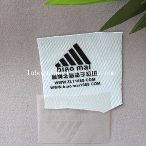 Yiwu custom clothing brand LOGO ,heat press printed labels for sportshoes