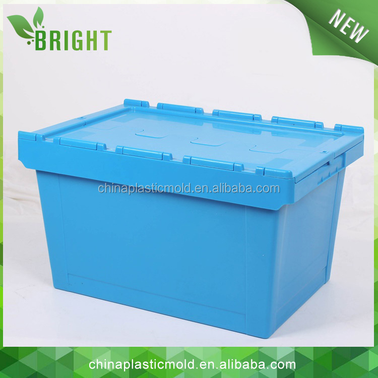 BX0666 60Liter 600*400mm plastic nesting stacking boxes logistics tote box