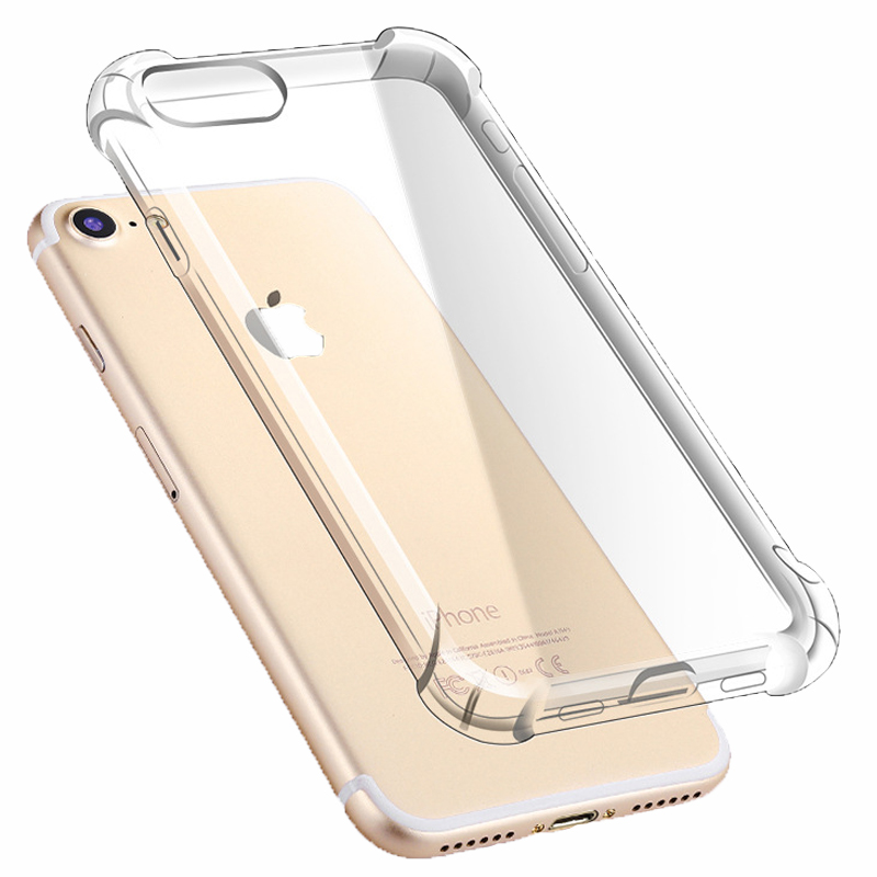 Wholesale four corners anti crack clear tpu transparent cell phone case for <strong>iphone</strong> 7,Mobile back cover for <strong>iphone</strong> case