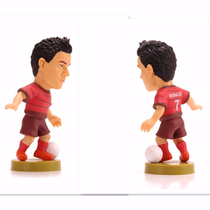 plastic soccer player star figures world cup promotional football player figures