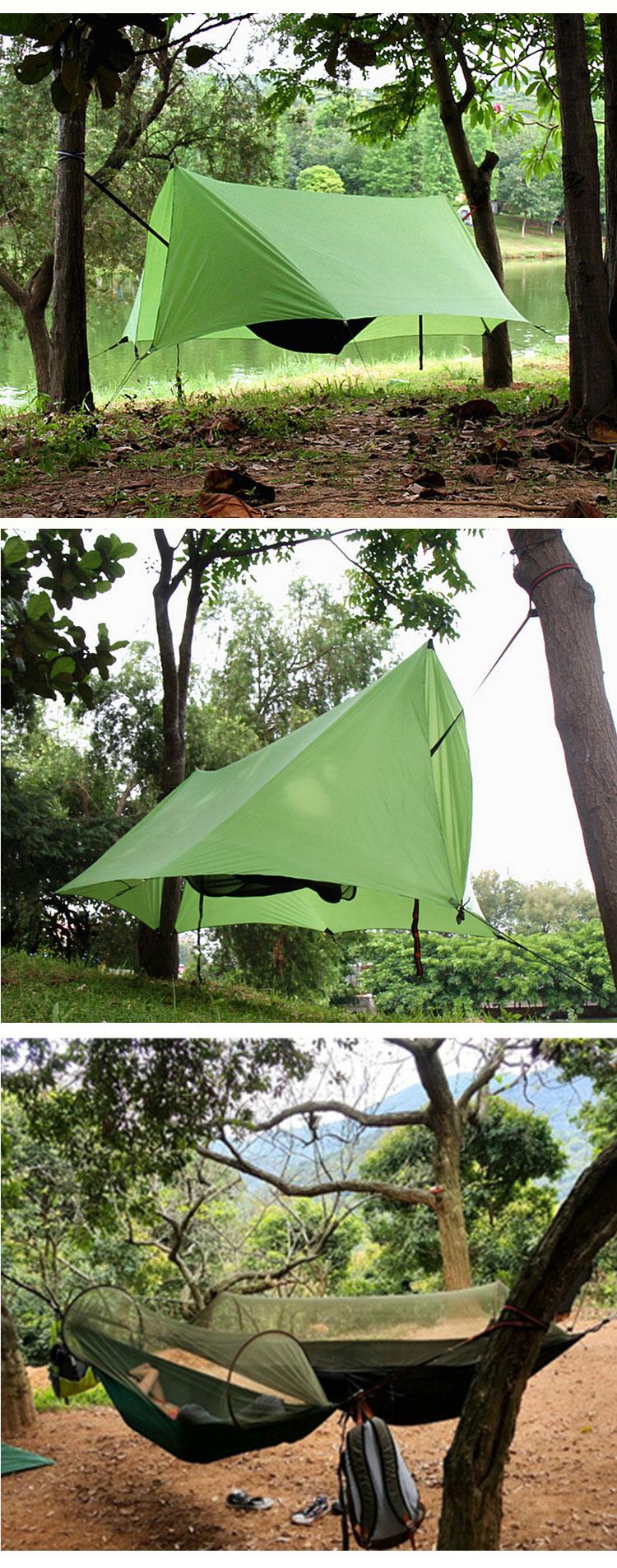 Waterproof Tent Tarp Rain Fly and Hammock bug net ripstop c&ing tarp nylon & Waterproof Tent TarpRain Fly And Hammock Bug NetRipstop Camping ...