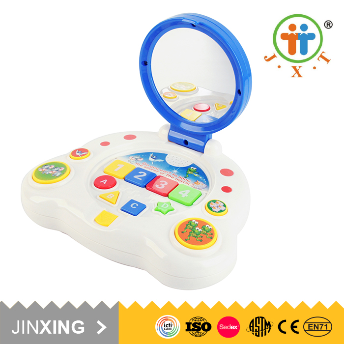 Christmas unique baby musical learning resources educational toys with mirror