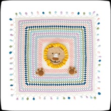 Wild animal cartoon small blanket hand weaving blanket material bag baby crochet wool handmade children crawling and small blank