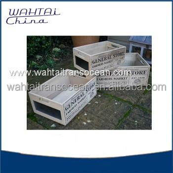 Garden Decorate Wood Flower Box Outerdoor Waterproof Wood Planter