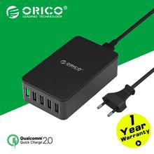 ORICO QSE-5U 5 Ports QC2.0 5V2.4A 9V2A 12V1.5A Desktop USB Quick Charger with EU Plug/US Plug – Black