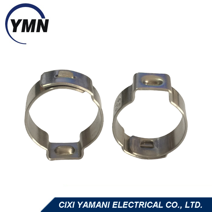 Single ear riveting clamp