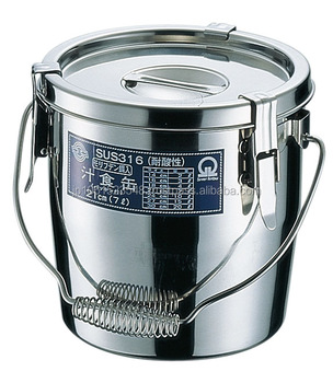 Japanese Durable Soup Container As Stainless Steel Storage Box With