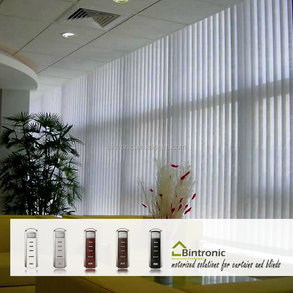 Bintronic Taiwan Ideas For Window Blinds Automatic Motorized Vertical Blinds Electric Blind Track
