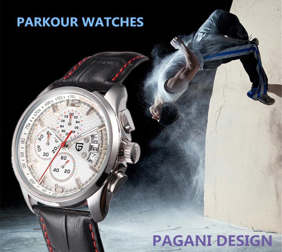 30dff6d9d29 Relógios homens marca de luxo Multifuncionais Pagani Design quartz homens  esporte relógio de pulso mergulho 30m relógio casual relogio masculino