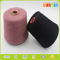 Factory price knitting cotton polyester rayon and wool blended yarn