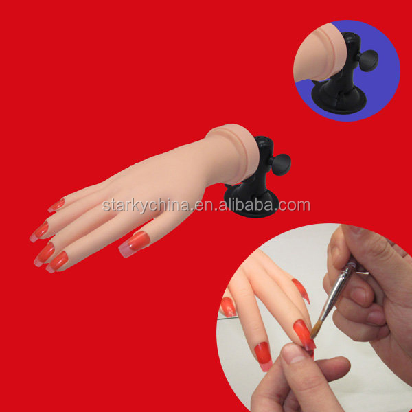 Nail Hand Practice Model,Soft Plastic Fake Hand For Nail Art - Buy ...