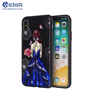 Hot sales embossed design printing IMD phone case accessories for iPhone X