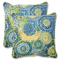 Printed multi-color 45*45cm square 100%polyester chair or sofa cushion/pillow