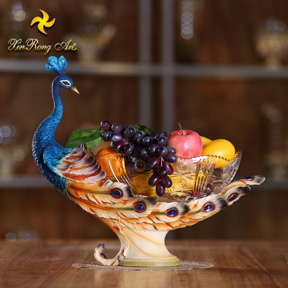 Creative Resin Antlers Fruit Bowl for Living Room Home Crafts Plate Tray Arrangement