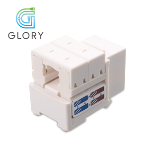Glory UTP Cat6 RJ45 Insert for Wall Plate Keystone Jack in White