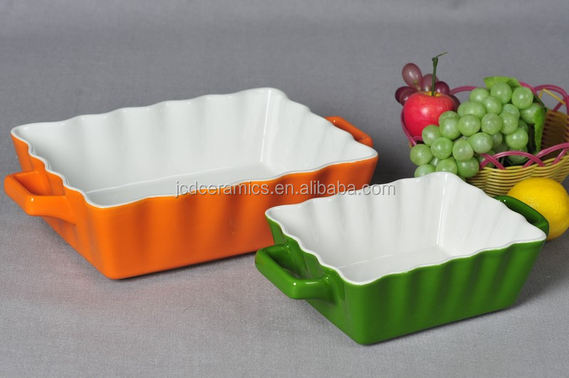 2017 high quality ceramic baking pan