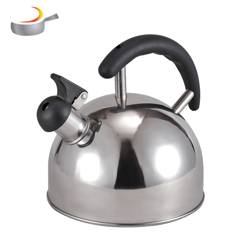 2019 China supplier portable funky fixed handle induction whistling kettle 2.5 Liter Whistling tea pot